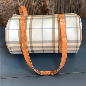 Authentic Burberry London light blue barrel bag